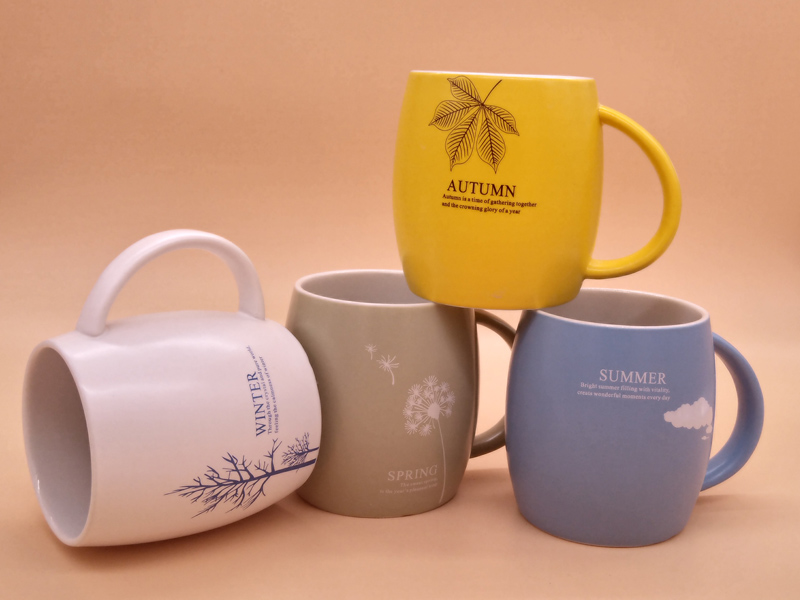 想要陶瓷杯广告logo定制找永德福家居,茶叶