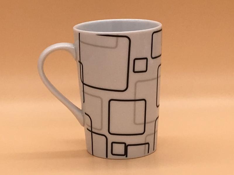 创意杯子——福州优惠的创意点线面陶瓷杯马克杯批发图片