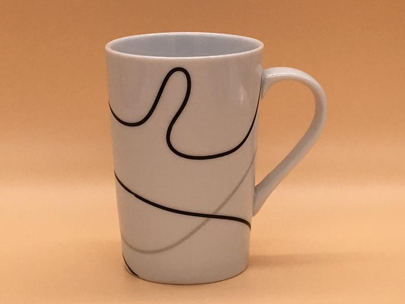 哪里有卖出色的创意点线面陶瓷杯马克杯-礼品定制