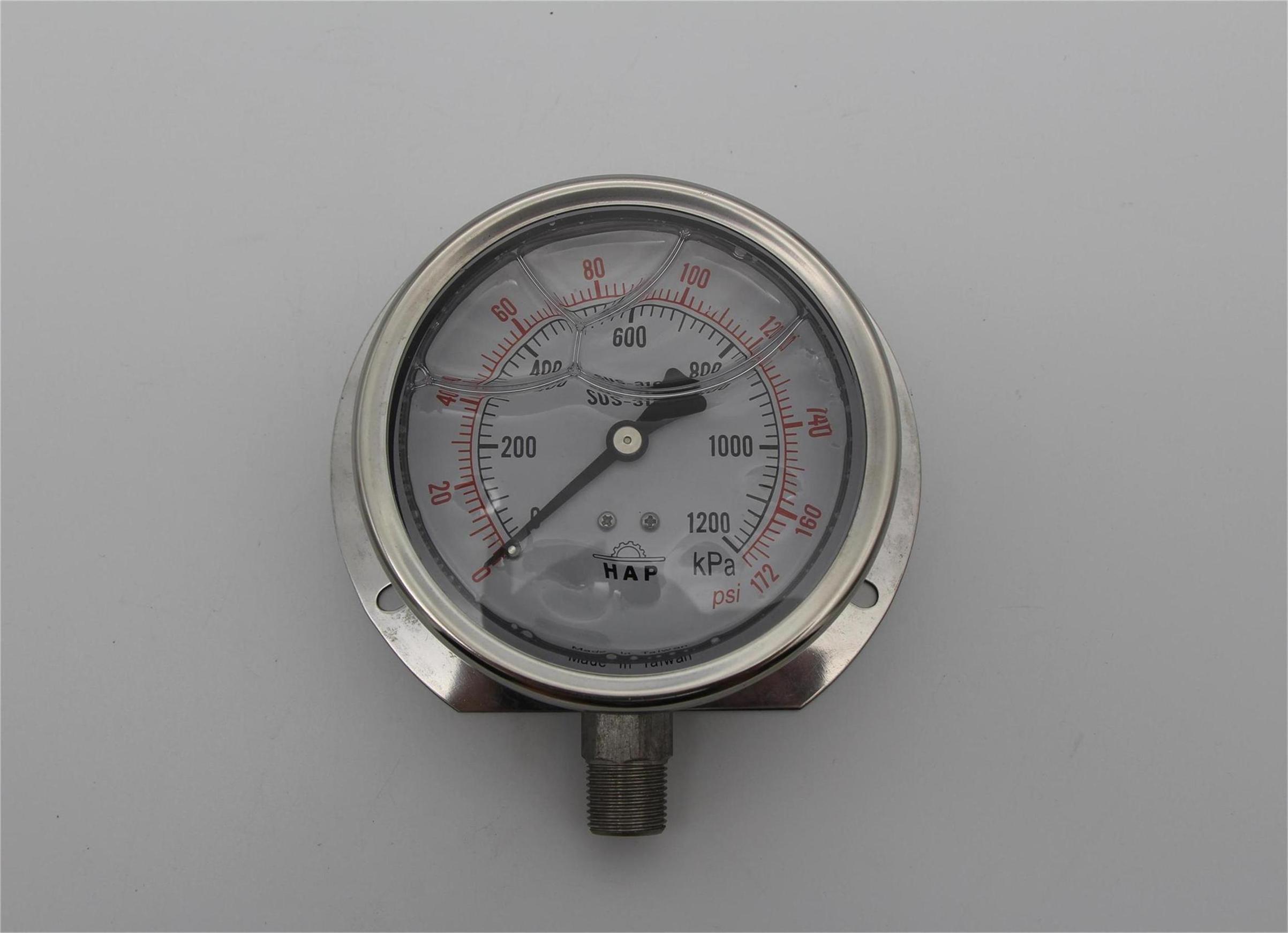 购买新品全不锈钢浸油式压力表0-1200kpa优选深圳信宏