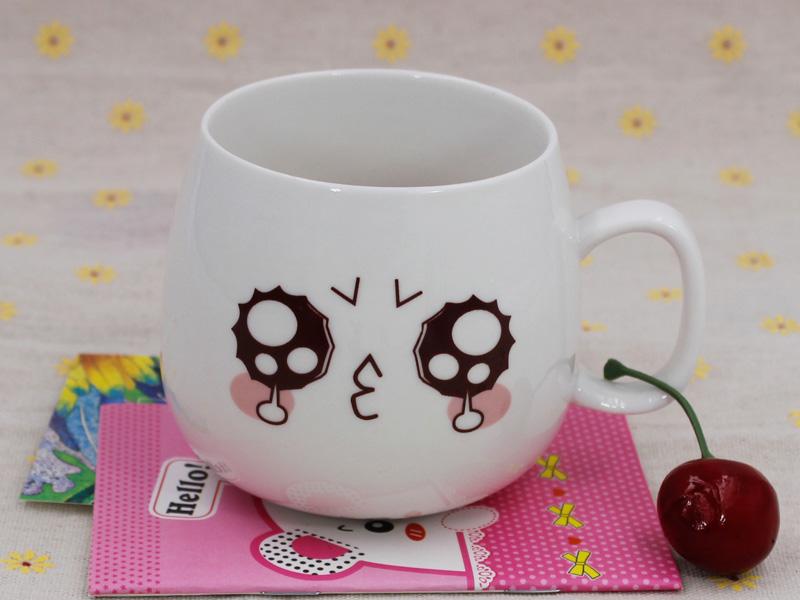 创意家居,福州哪里有供应优质的创意可爱萌表情带盖勺杯子