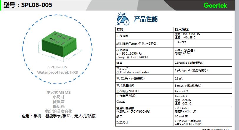 哪里能买到质量好的歌尔电容式气压传感器,压力传感器