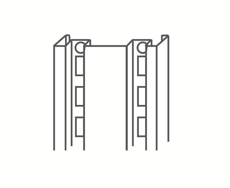 服装货架厂家——供应广东厂家直销的冲孔服装货架