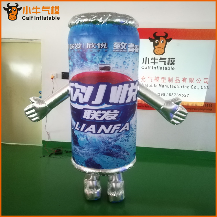 具有價值的廠家直銷定制廣告飲料充氣模型固定行走充氣卡通一件代發-哪里有做2米可樂罐