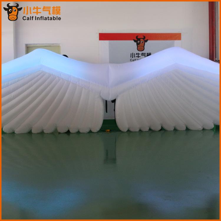 厂家供应直销定制天使的翅膀充气模型户外大型模型产品一件代发-东莞8米长牛津布翅膀军部批发