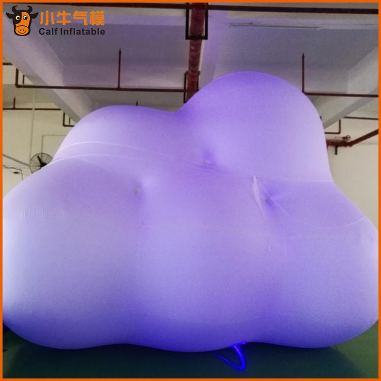 外贸厂家直销定制仿真云朵充气模型户外大型广告模型推广|5米长pvc云朵公司哪家好