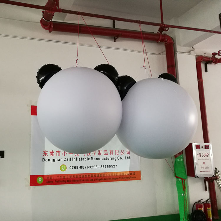 信誉好的充气模型 东莞1.2米熊猫球哪家好