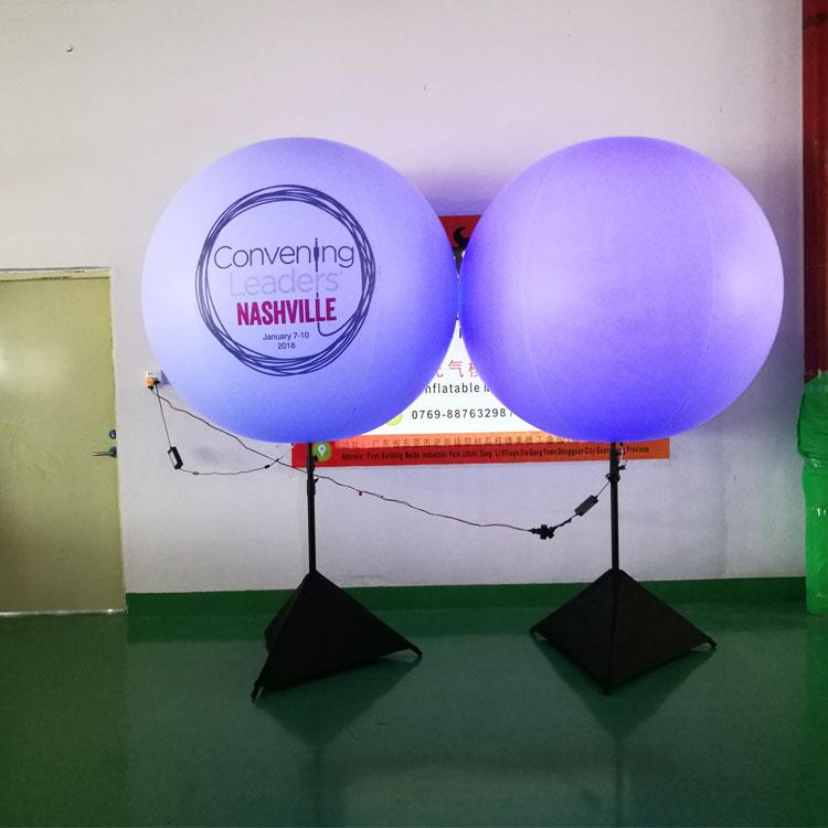 创新型的充气模型-哪里能买到0.25PVC白色支架灯球