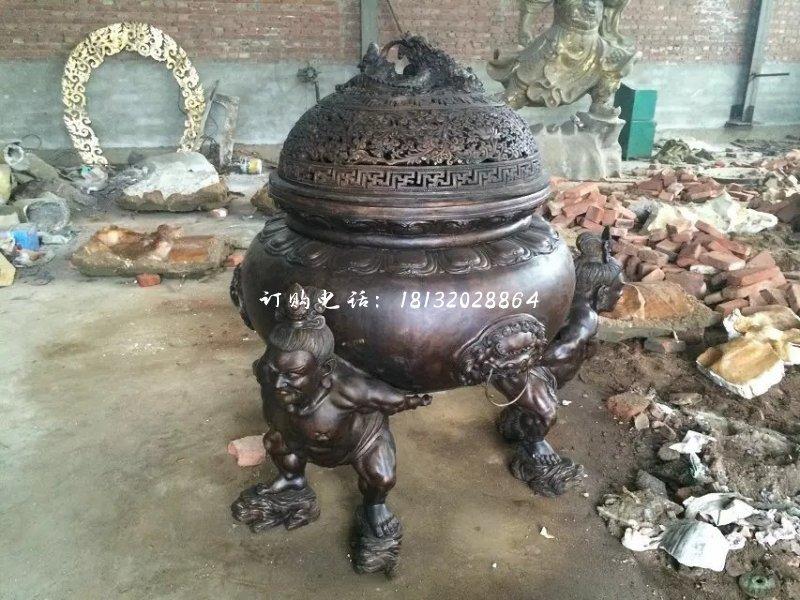 出售河北三足香炉雕ξ 塑-通辽
