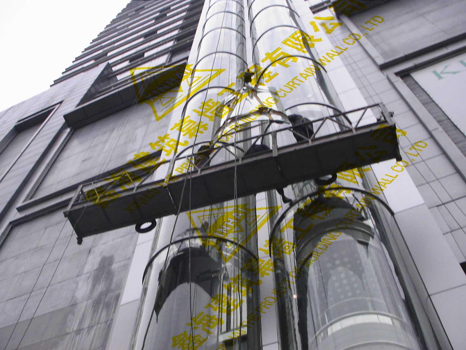 吊篮出租找广州鑫海建筑幕墙工程 租用电动吊篮公司