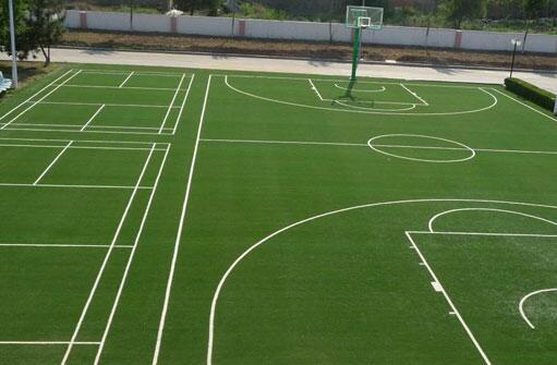 篮球场人造草坪施工工程-迪特克专注篮球场人造草坪批发