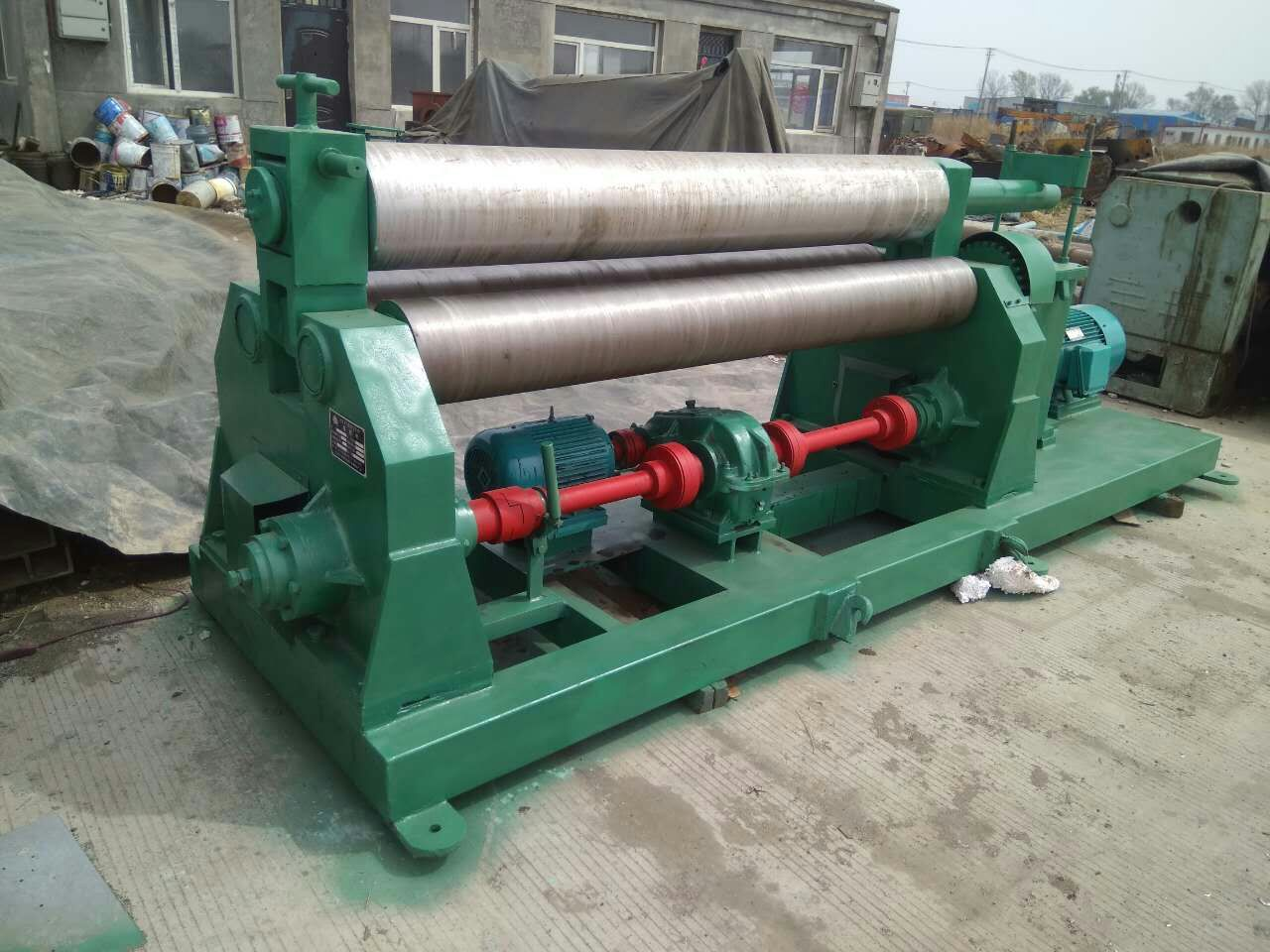 上海機械上調式三輥卷板機W11-12X250|馬鞍山新型的機械對稱式三輥卷板機出售