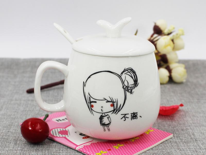 大量供应出售品质好的婚庆礼品定制陶瓷情侣对杯 陶瓷杯礼品