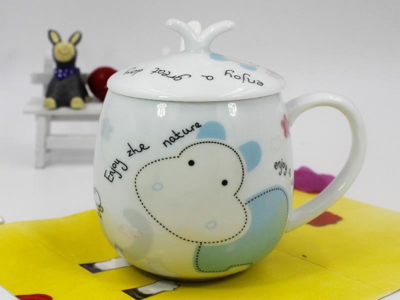 随手杯-信誉好的创意卡通缩口陶瓷杯供应商,当选永德福家居
