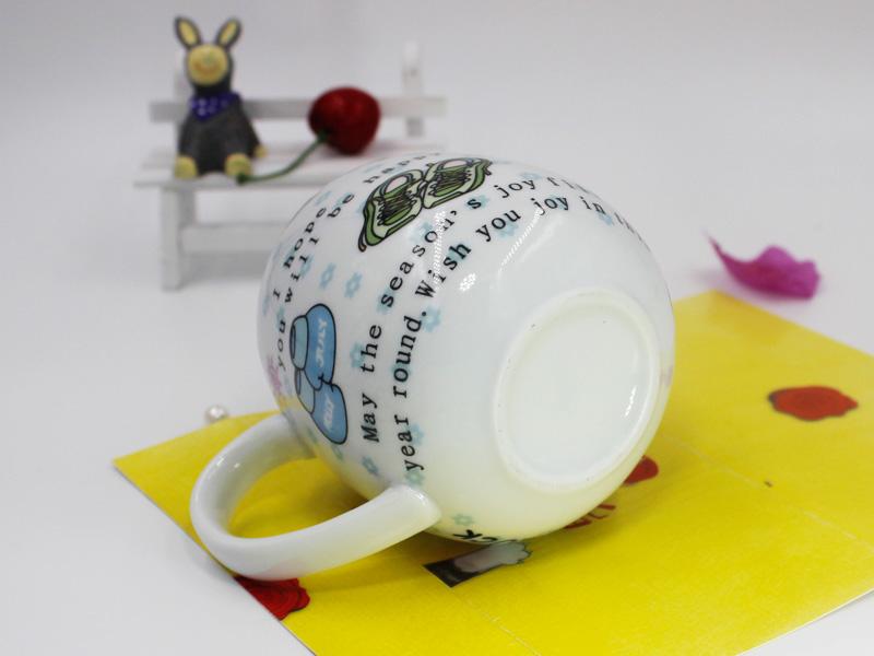 供应超值的创意卡通缩口陶瓷杯|中秋节祝福