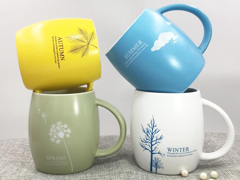 陶瓷杯广告logo定制必选永德福家居,送礼物给女生