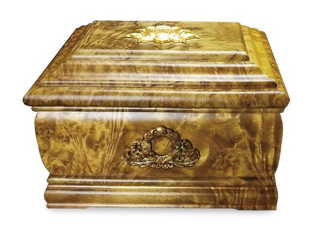 金银红木福寿盒