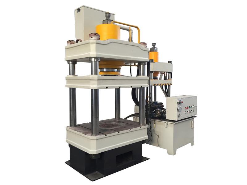 150吨三梁四柱液压机 鱼食粉末成型油压机 金属成型机定制