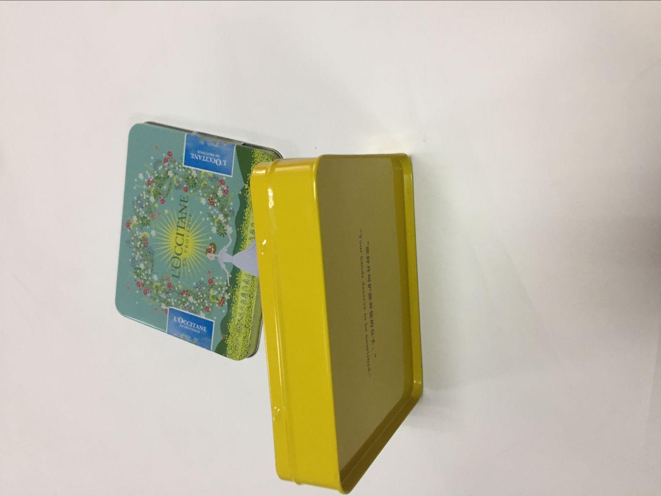 河南化妆品长方形铁盒——专业供应欧舒丹铁盒