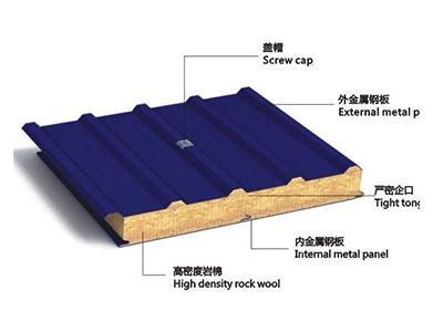 银川提供好的岩棉夹芯板-阿拉善盟岩棉夹芯板生产厂家
