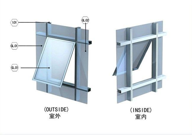 幕墙改造开窗哪家好-幕墙平开窗哪家好