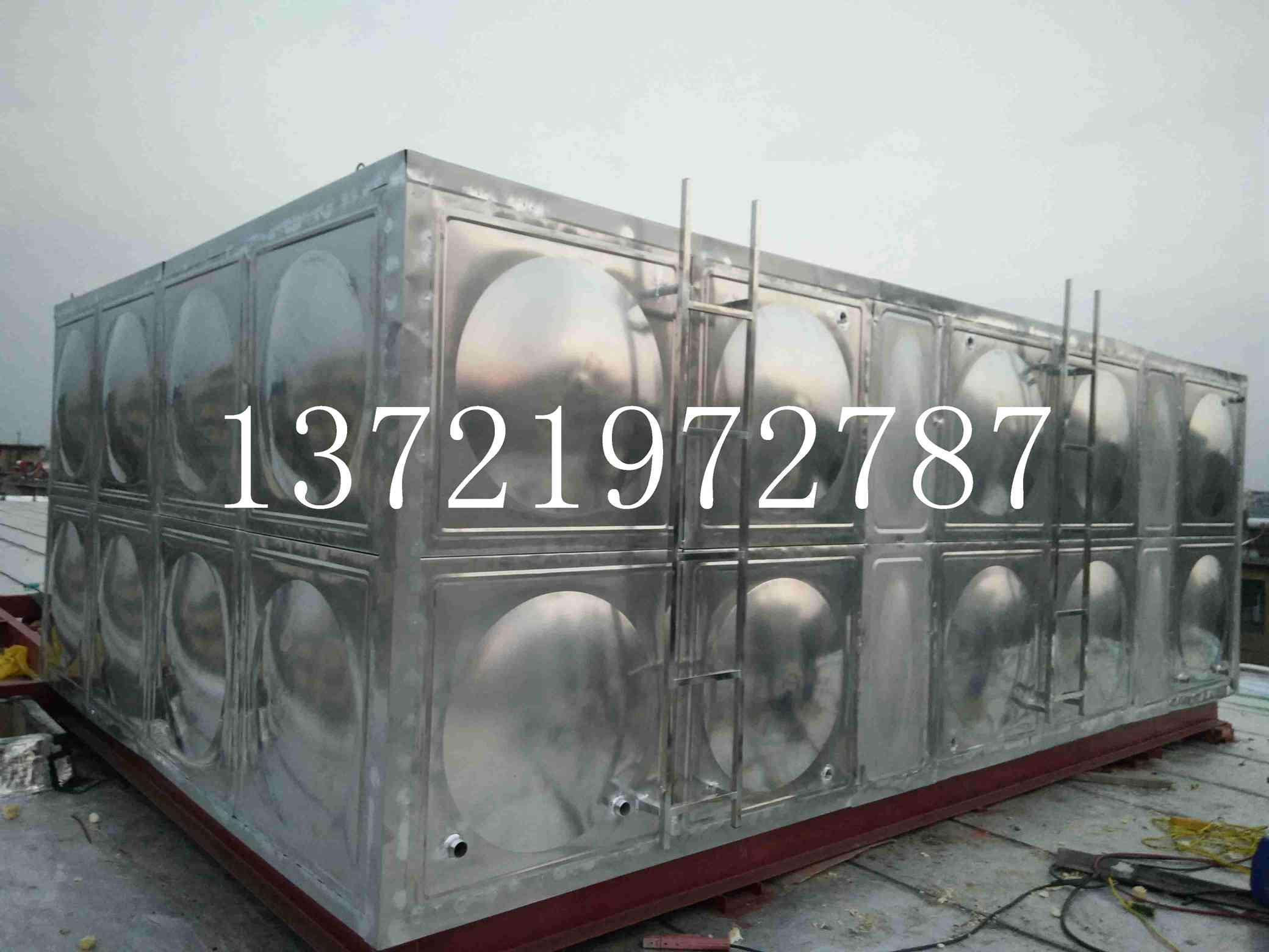 【真结实!】山东城阳大型工程用不锈钢水箱+玻璃钢水箱厂家