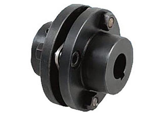 膜片联轴器的基本结构是由几组膜片(不锈钢薄扳)和两半联轴器用螺栓