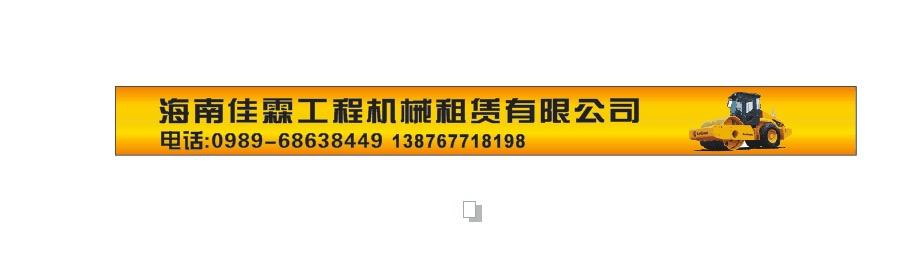 海南佳霖工程机械租赁有限公司