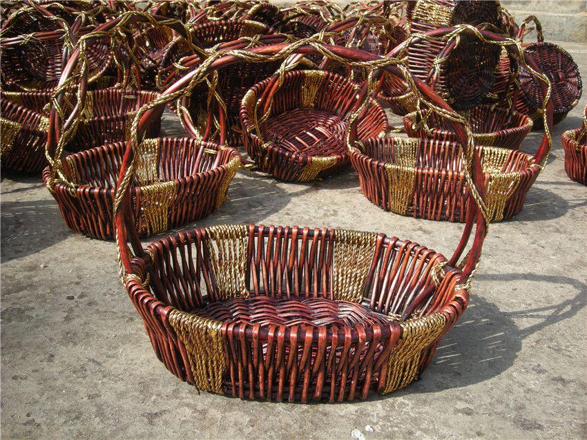 为您推荐新款柳编水果篮,折叠竹篮厂家