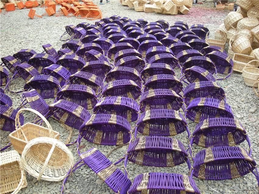 山東折疊竹籃哪家便宜 品質柳編水果籃現貨供應