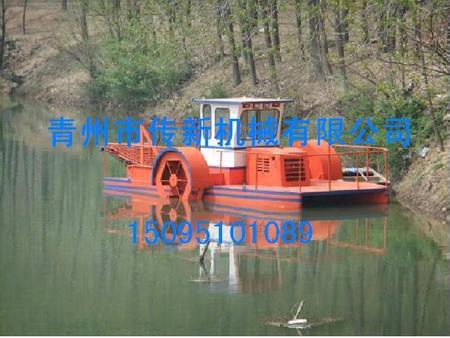 半自动割草船,半自动水草收割船,半自动水草收割船厂家