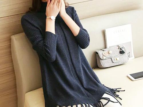 黄江毛织连衣裙-名杰针织服装厂供应质量好的韩版气质毛织连衣裙