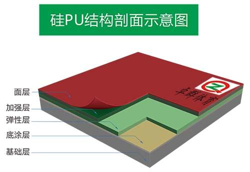 施工效果专业的硅PU球场,硅PU球场材料供应厂家