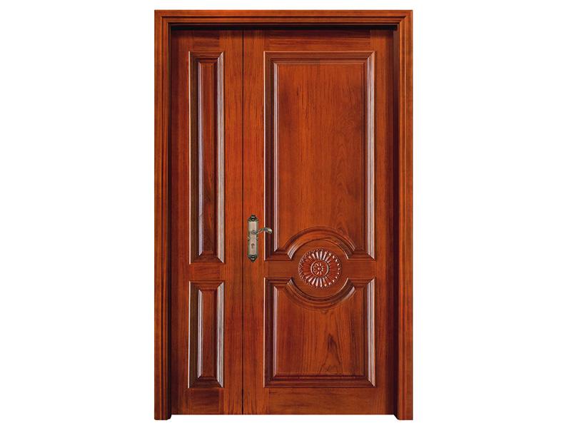 钢木室内门_创毅名门划算的实木平板门供应