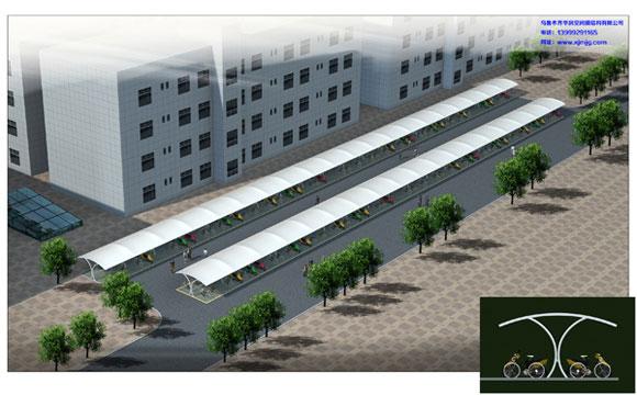 新疆膜结构车棚哪家好 乌鲁木齐新疆膜结构车棚厂家