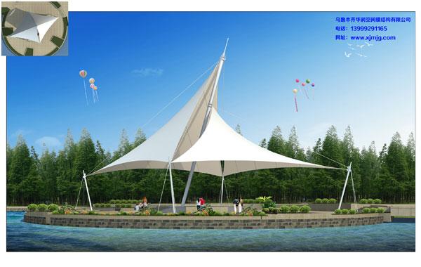 新疆景观膜结构价格-新疆膜结构车棚