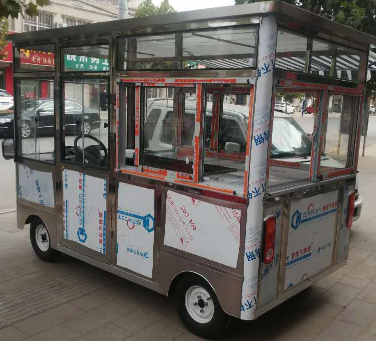 臨沂餐車定制價格——定做四輪電動餐車