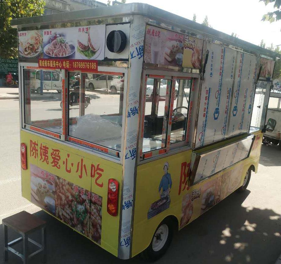 山東電動小吃價格_哪里有可靠的餐車定制