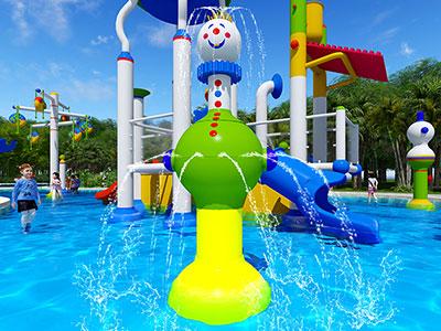 儿童泳池戏水设备-耐磨大型互动戏水