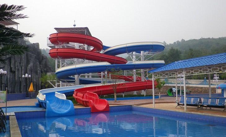 螺旋水滑梯|广州星江源游乐设备敞开螺旋组合滑梯品质优良