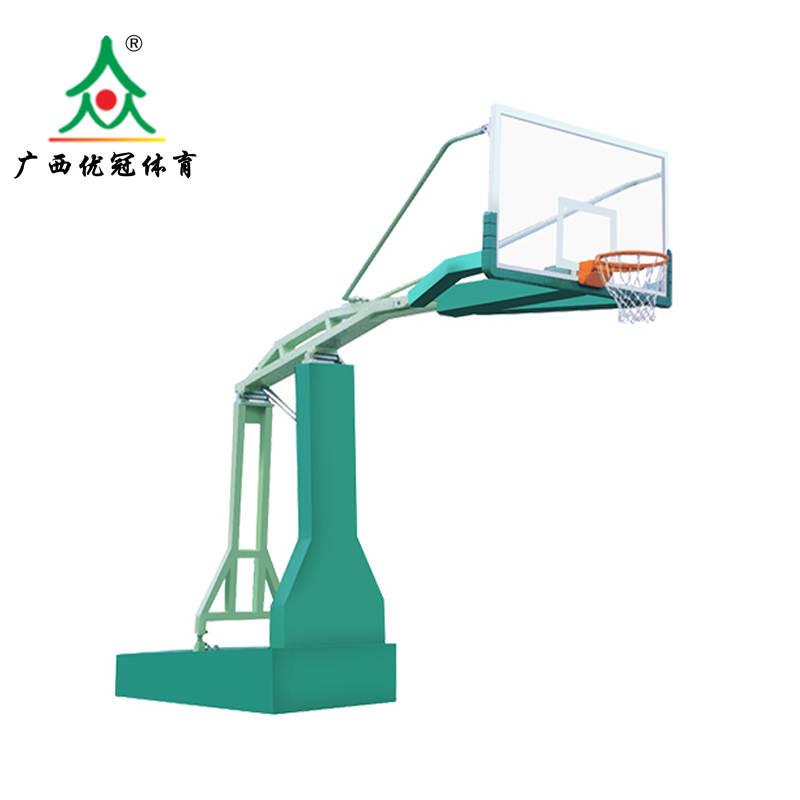 热卖海南液压式篮球架推荐海口篮球架安装厂家