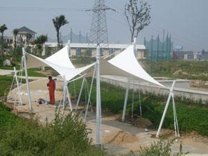 景观设施的价格范围如何-浙江景观膜结构车棚厂家