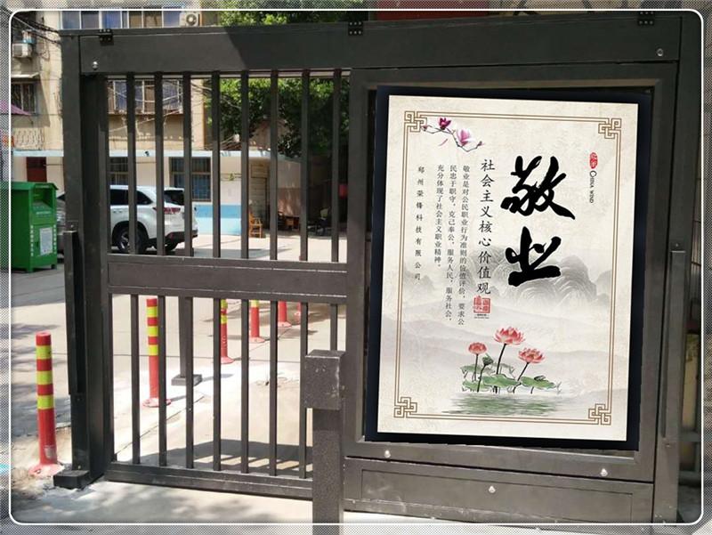 许昌小区人行通道广告门价格_性价比高的广告平移门推荐
