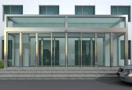 感应门玻璃维修包您满意——玻璃幕墙胶维修