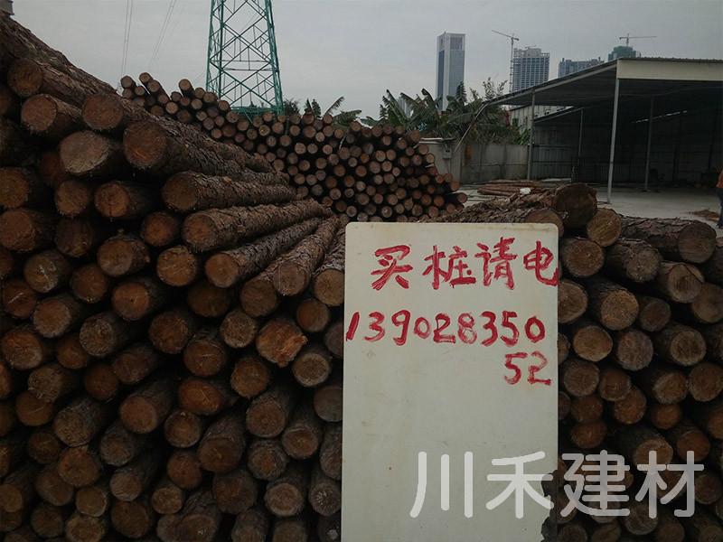 胶合板供应厂家-川禾建材提供的松木桩要怎么