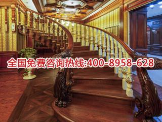 原木楼梯加工厂_合肥甘林木制品的原木楼梯多少钱
