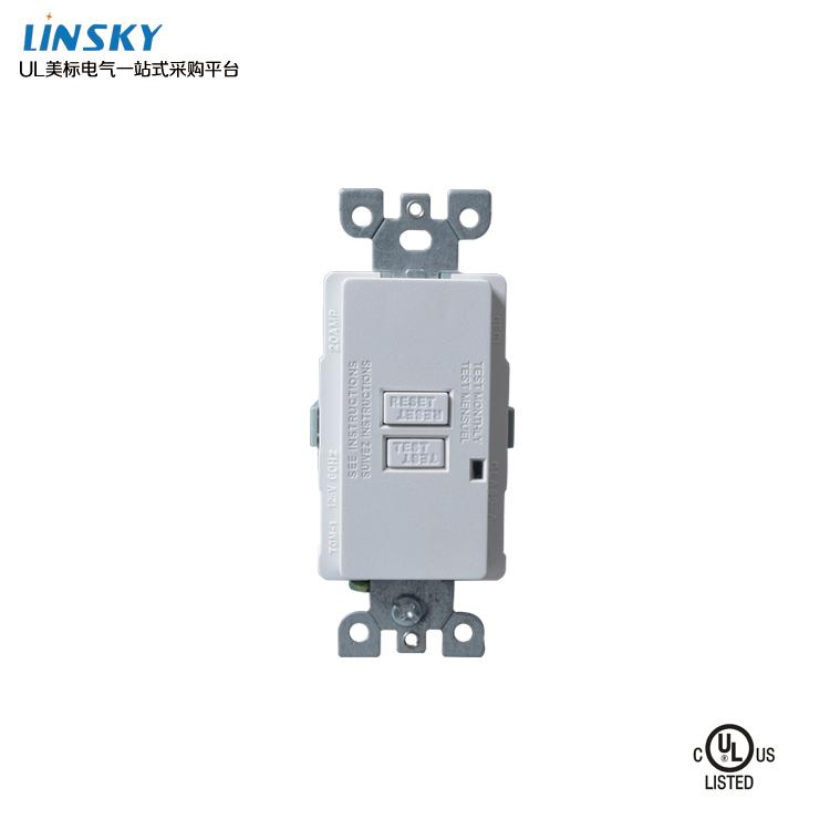 购买优良的美标GFCI漏电保护插座优选上海灵天电气 -插座价位
