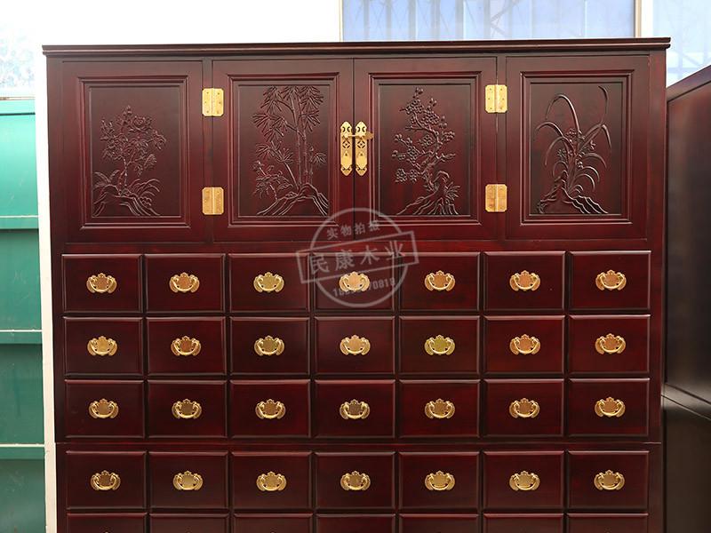 山东药柜用中药斗多少钱-民康家具提供实惠的水曲柳中药柜