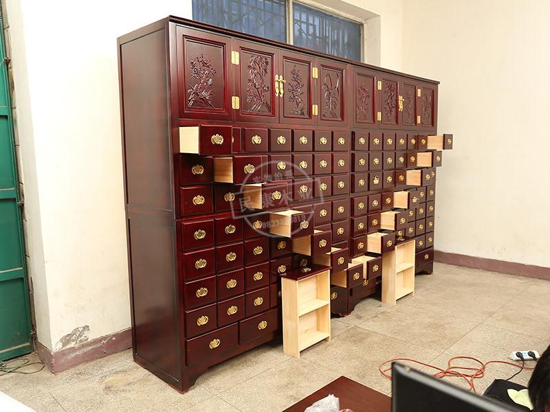 水曲柳中药柜供应厂家-保定高品质水曲柳中药柜出售