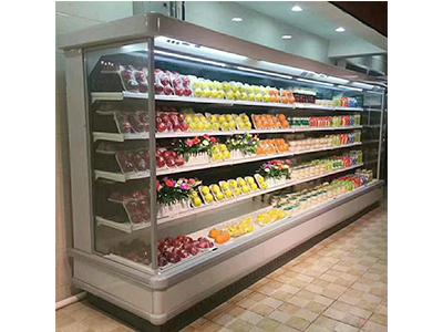 水果保鲜柜品牌 广东质量可靠的分体立式风幕柜生产厂家